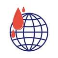 Volunteer blood donation icon vector.
