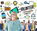 Volunteer Charity Relief Work Donation Help Concept Royalty Free Stock Photo