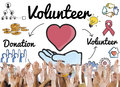 Volunteer Donation Welfare Helping Hand Concept Royalty Free Stock Photo