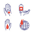 Volunteer icons vector set.