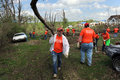 Royalty Free Stock Image Volunteers Help Clean Up After Tornadoes