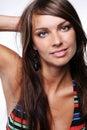Voluptuous woman in bikini. Royalty Free Stock Photo