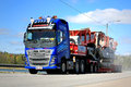 Volvo FH Hauls an Exceptional Load Royalty Free Stock Photo