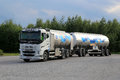Volvo FH Milk Tank Truck in Motion