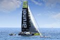 """Volvo ocean race sailboats in race alicante spain october th starting the """"in port race"""" for the alicante bay all are Royalty Free Stock Photo"""
