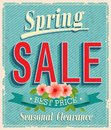 Vontage card spring sale vector illustration Stock Photo
