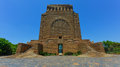 Voortrekker monument the is located just south of pretoria in south africa this massive granite structure is prominently located Stock Photos