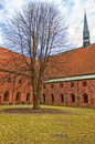 The vor frue kloster saint maria church situated in the danish town of helsingor Stock Images