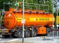 Rosneft fuel truck preparing for fuel unloading