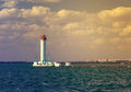 Vorontsov lighthouse vintage background in odessa harbor ukraine Royalty Free Stock Image