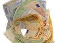 Vortex euro money Royalty Free Stock Photo