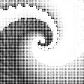 Vortex spiral ocean wave square halftone geometry texture Royalty Free Stock Photo