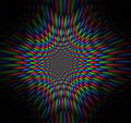 Vortex of vibrating red, green and blue spheres Royalty Free Stock Photo