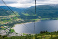 Voss norway panorama with lake Royalty Free Stock Image