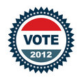 Vote 2012 badge Stock Photo