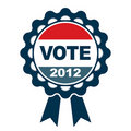 Vote 2012 emblem Royalty Free Stock Photos