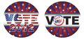 Vote 2012 Presidential Election Buttons Stock Image