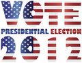 Vote 2012 USA Presidential Election Illustration Stock Photo