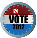 Vote 2012 Web Button Royalty Free Stock Images