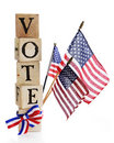 Vote, America. Stock Photo