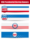 Vote Banners. Set of four with Background Stock Photos
