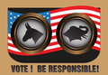 Vote and be responsible Stock Images
