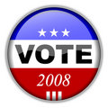 Vote Button 2008 Royalty Free Stock Photography