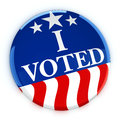 Vote button in red, white, and blue with stars Royalty Free Stock Photo