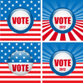 Vote Buttons. Set of four with Background Stock Photography