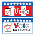 Vote for change Stock Photos