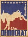 Vote Democrat 2020 Vintage Pos...