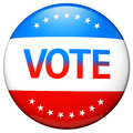 Vote election campaign badge Stock Photography