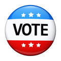 Vote election campaign badge Stock Image