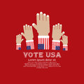 Vote for election u s a vector illustration concept eps Stock Image