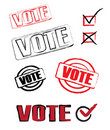 Vote icons Royalty Free Stock Images