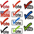 Vote Logos or Clip Art Royalty Free Stock Photo
