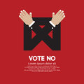 Vote No. Royalty Free Stock Photos