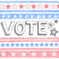 Vote President Election Sketchy Doodles Vector Stock Photos