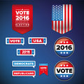 Vote and presidential election set vector Royalty Free Stock Photo
