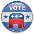 Vote Republican Button Stock Photography