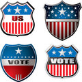 Vote shield Royalty Free Stock Photo
