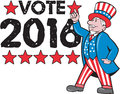 Vote 2016 Uncle Sam Hand Pointing Up Retro Royalty Free Stock Photo