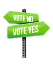 Vote yes or no road sign illustration design over a white background Royalty Free Stock Photos