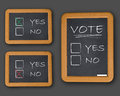 Vote yes or not Royalty Free Stock Image
