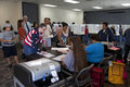 Voters at polling station in presidential election ventura county california november Royalty Free Stock Images