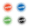 Voting icons Stock Photography