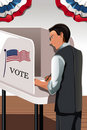 Voting man Royalty Free Stock Photography