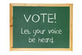 Voting Message on Blackboard Stock Photos
