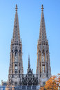 Votive curch in vienna the church austria Royalty Free Stock Photos