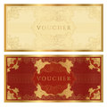 Voucher / coupon. Guilloche pattern Stock Photos